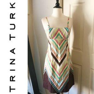 Trina Turk Chevron Dress Size 2